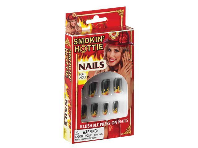 Smokin' Hottie Decorative Flame Costume Nails One Size