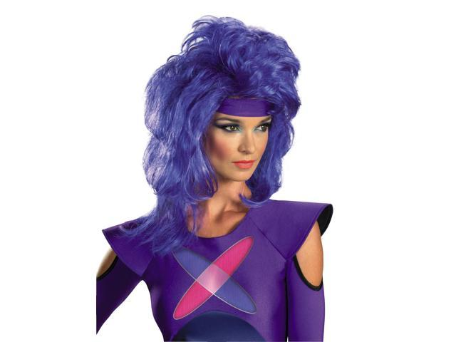 Jem & The Holograms Synergy Costume Wig Adult: Purple One Size Fits Most