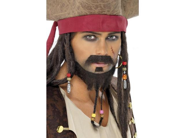 Captain Jax Pirate Costume Men's Beard Set One Size