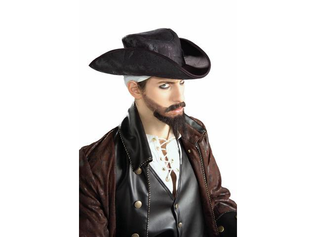 Distressed Suede Pirate Hat - One Size Fits All