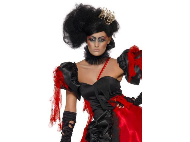 Twisted Queen Of Broken Hearts Teased Costume Wig One Size
