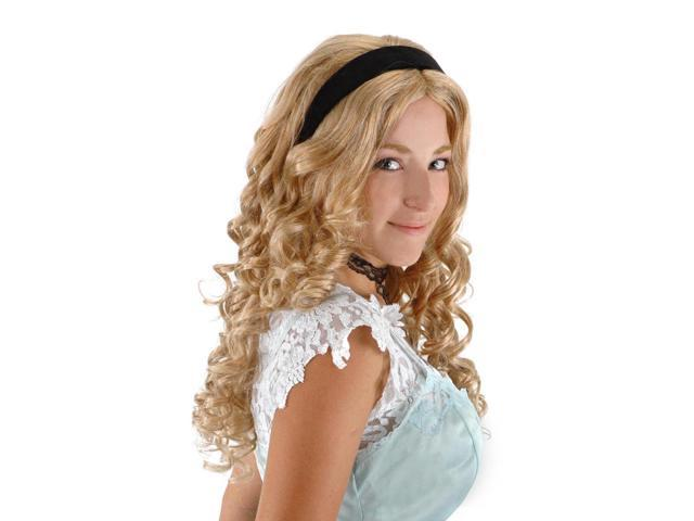 Alice in Wonderland Blonde Costume Wig & Headband Adult One Size
