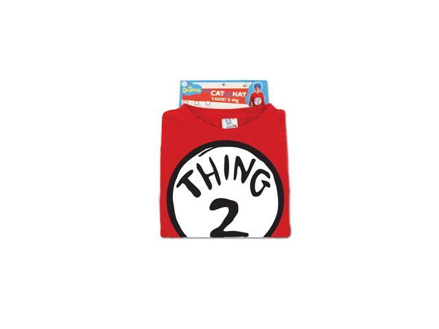 Dr. Seuss Thing 2 Costume Shirt Adult Small/Medium