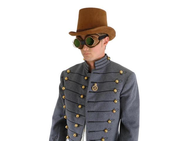Steampunk Coachman Brown Suede Costume Top Hat Adult One Size