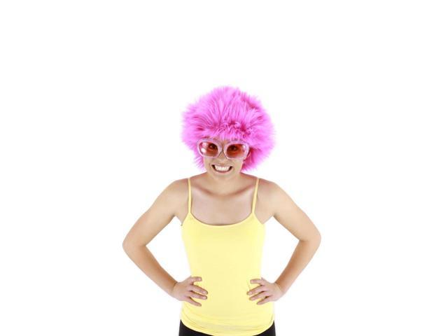 Fuchsia Fuzzy Costume Wig Adult One Size