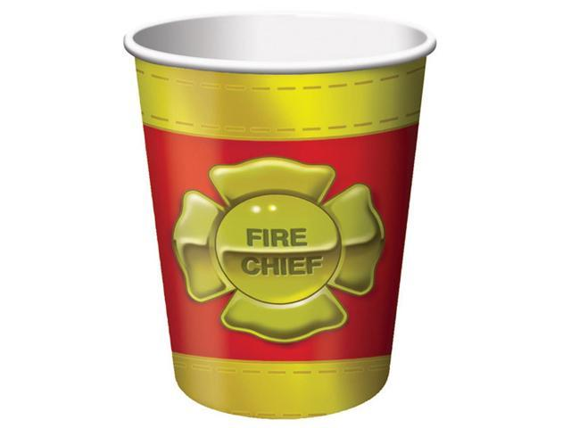 8 Pack 9Oz Cups Firefighter