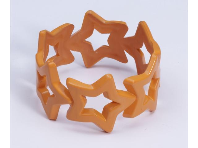 Club Candy Star Bangle Costume Bracelet: Orange One Size