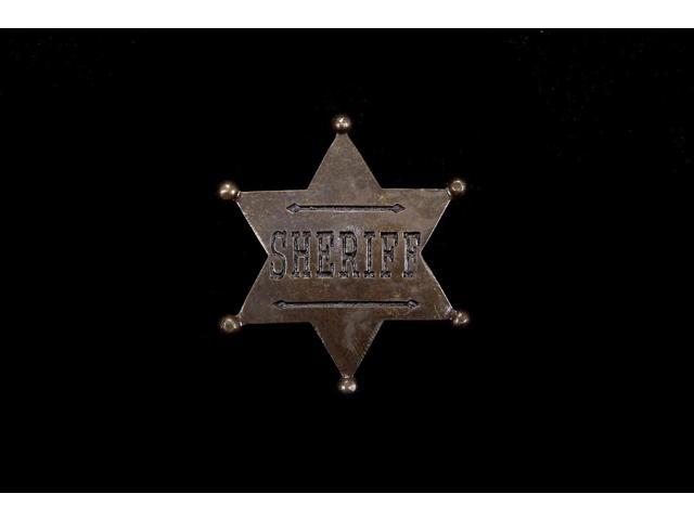Sheriff Star Badge Costume Accessory One Size