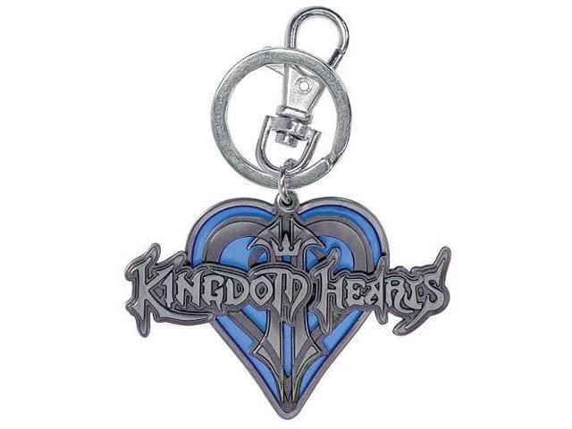 Disney Kingdom Hearts Logo Blue Heart Key Ring