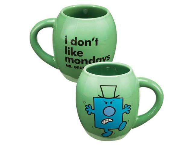 Mr Men Little Miss Mr. Grumpy 18 Oz Ceramic Oval Mug
