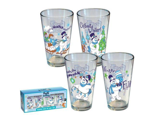 Frosty Winter 4 Pack Collectors Series Pint Glass
