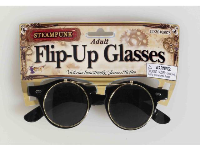 Victorian Steampunk Flip-Up Adult Costume Glasses One Size