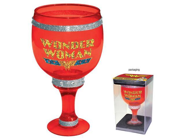 DC Comics Wonder Woman Bling Red Goblet