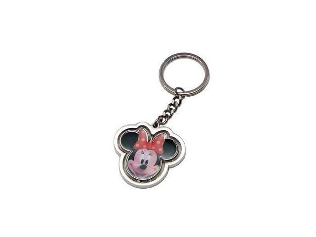 Disney Minnie Mouse Head Spinner Key Ring