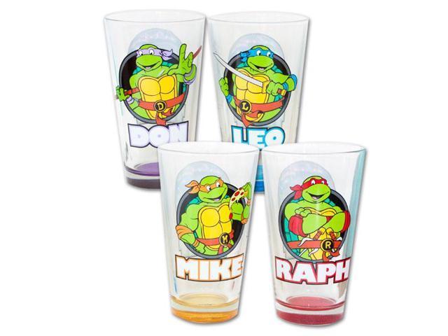 Teenage Mutant Ninja Turtles Names Pint Glass Set Of 4