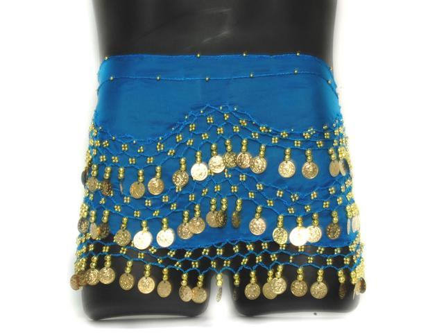 Coin Belly Dancing Wrap: Blue