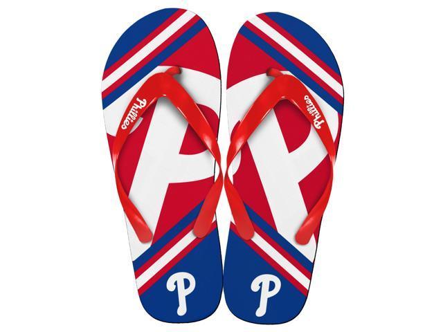 Philadelphia Phillies MLB Unisex Big Logo Flip Flops Large (M 9-10)
