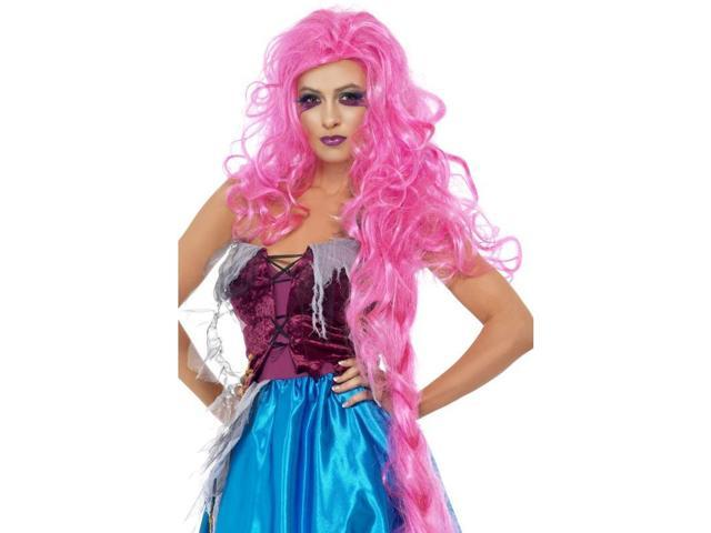 Rapunzel Repulsive Hot Pink Woman's Costume Wig One Size