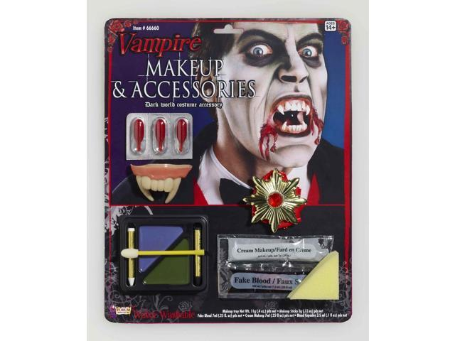 Vampire Costume Makeup & Accessories Kit One Size