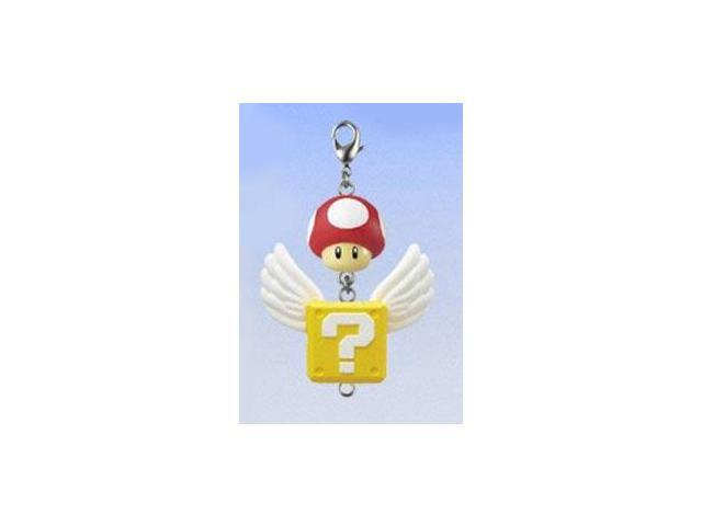 Super Mario Brothers Connecting Clip On Keychain Mushroom & Coin Box