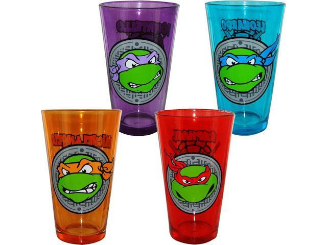 Teenage Mutant Ninja Turtle Face Pint Glass Set Of 4