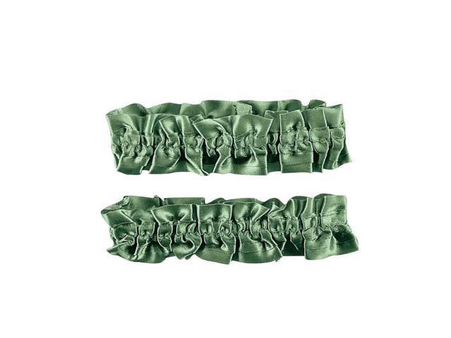 Green Silken Garter Or Armband Adult Costume Set One Size