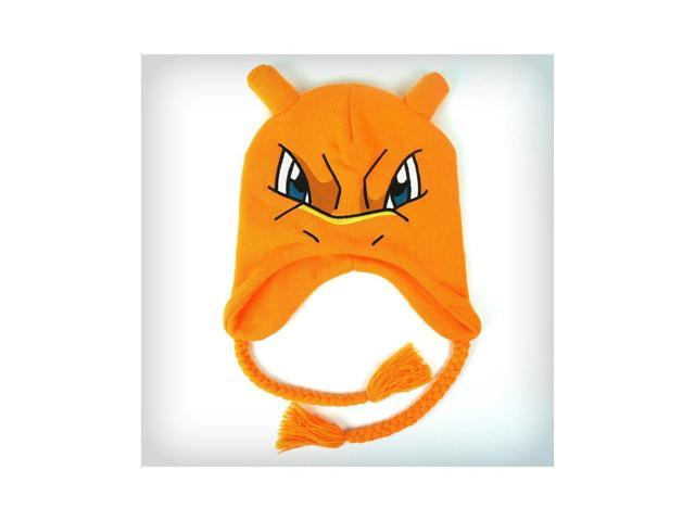 Pokemon Charizard Big Face Laplander Beanie Hat One Size Fits Most