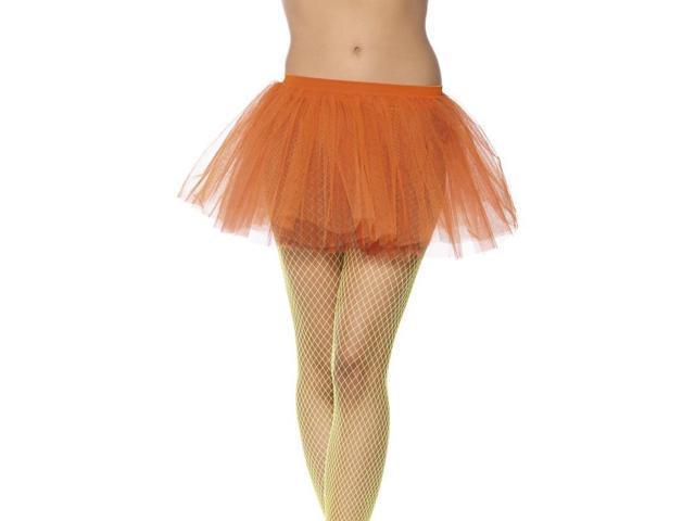 Tutu Neon Orange Adult Costume Underskirt One Size