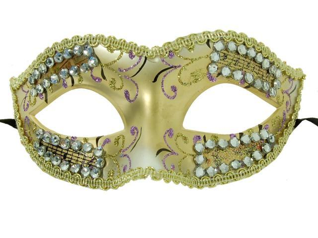 Petite Eye Costume Mask Gold/Violet One Size