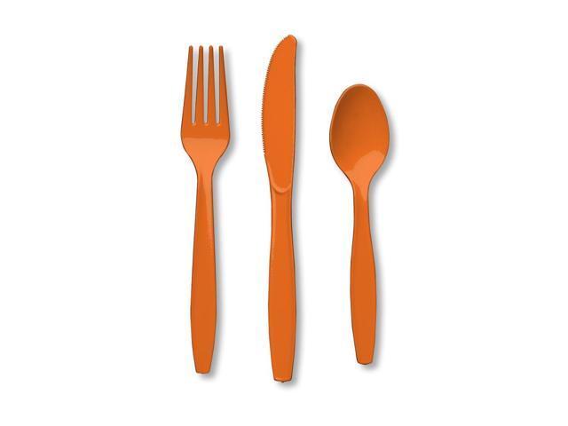 Premium Cutlery Assorted 24 Count Sunkissed Orange