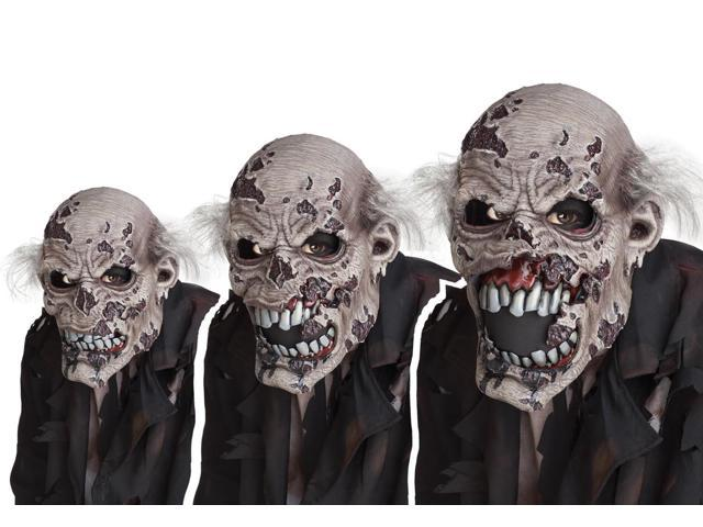 Animotion Zombie Animated Costume Mask Adult One Size