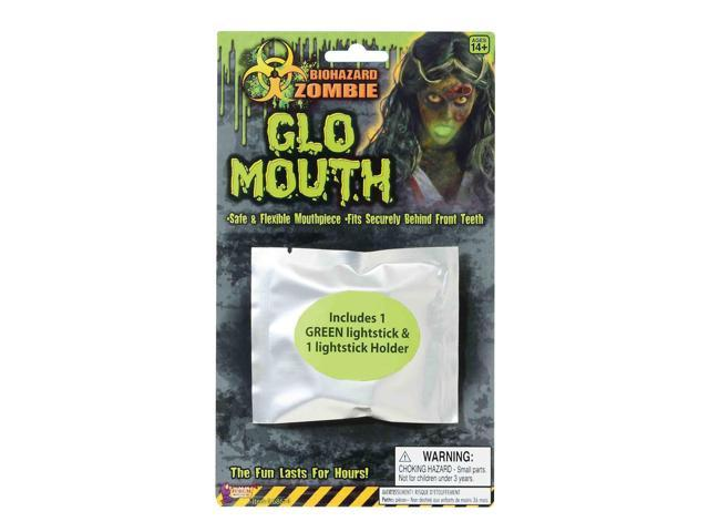 Biohazard Zombie Mouth Glow Light Up Costume Accessory One Size