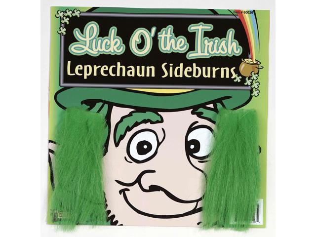 St. Patrick's Green Costume Sideburns One Size