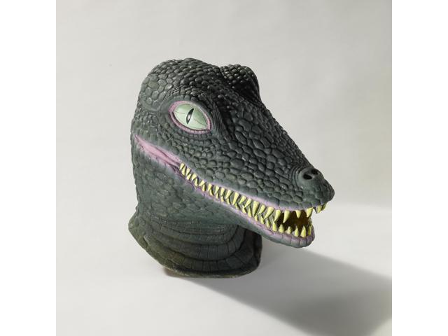 Deluxe Latex Animal Mask Adult: Crocodile One Size
