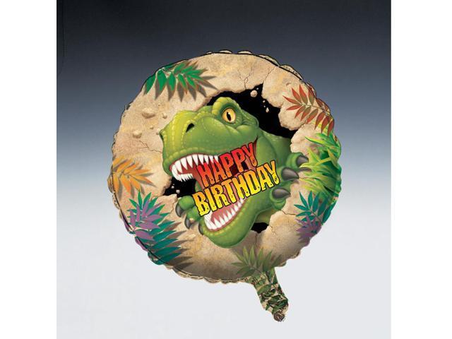 Happy Birthday Foil Balloon Dino Blast