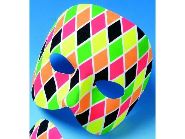 Multi Colored Rialto Mardi Gras Costume Half-Mask One Size