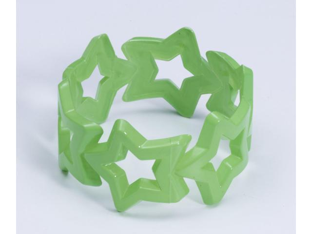 Club Candy Star Bangle Costume Bracelet: Green One Size
