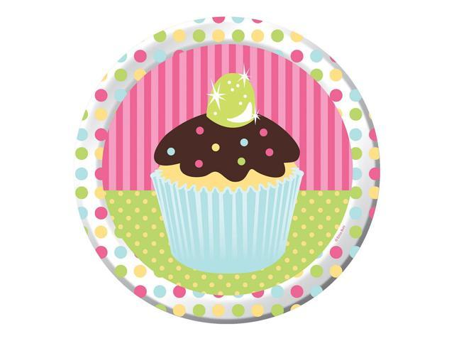 8 Pack 8 3/4 Round Luncheon Plate Sweet Treats