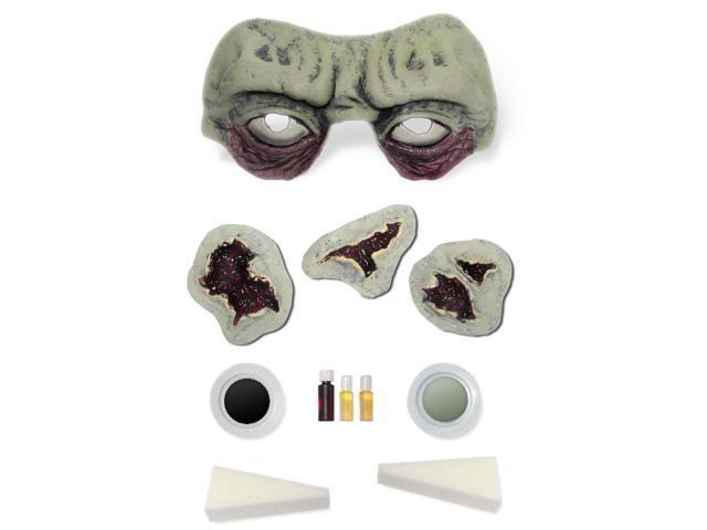 Toxic Green Zombie Costume Makeup & Prosthetics Kit Adult One Size