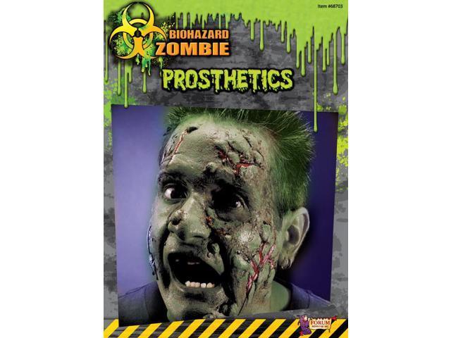 Biohazard Zombie Costume Makeup Facial Prosthetics One Size