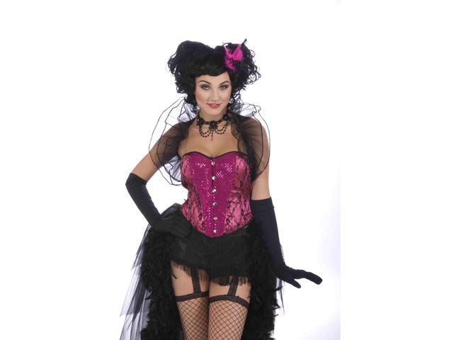 Burlesque Pink And Black Feather Hair Clip Costume Accessory One Size