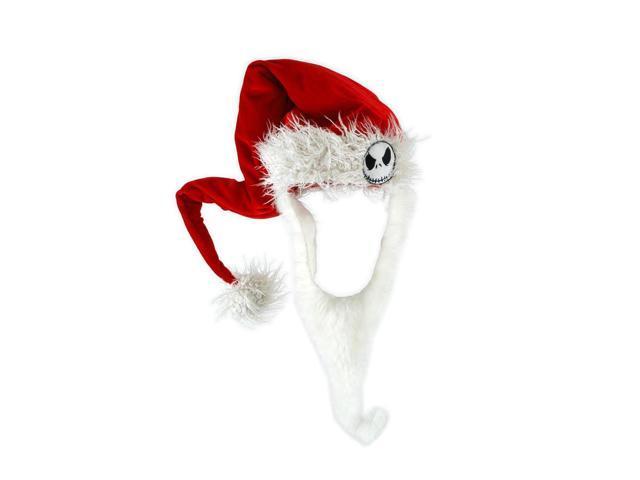 The Nightmare Before Christmas Jack Costume Santa Hat & Beard Adult One Size