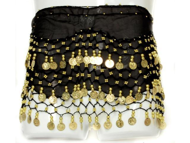 Coin Belly Dancing Wrap: Black