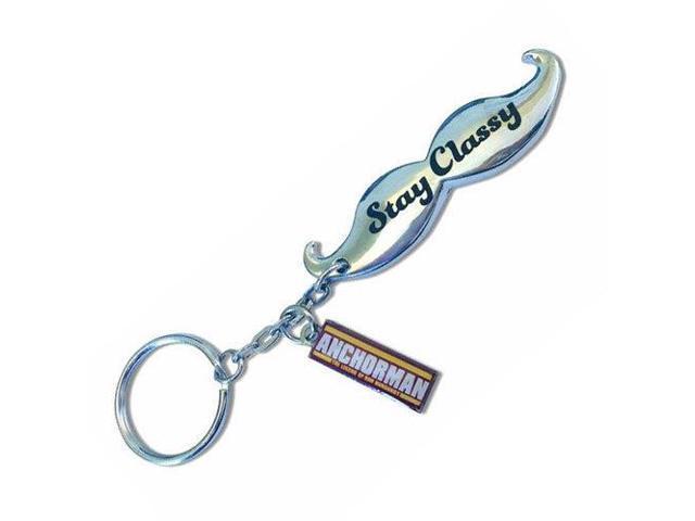Anchorman Moustache Bottle Opener Key Chain