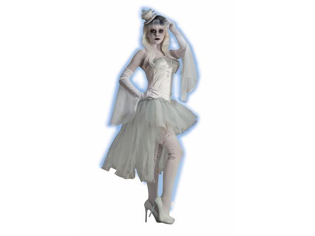 Ghost White Flutter Costume Gloves Adult One Size