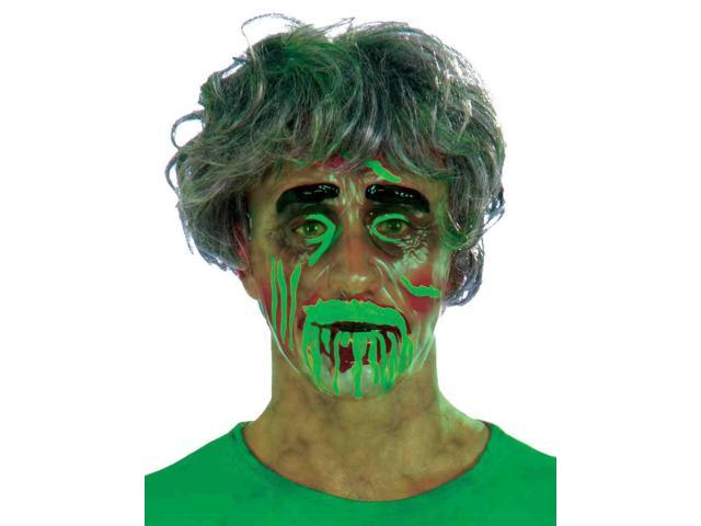 Biohazard Transparent Mask Adult Male Costume Accessory One Size