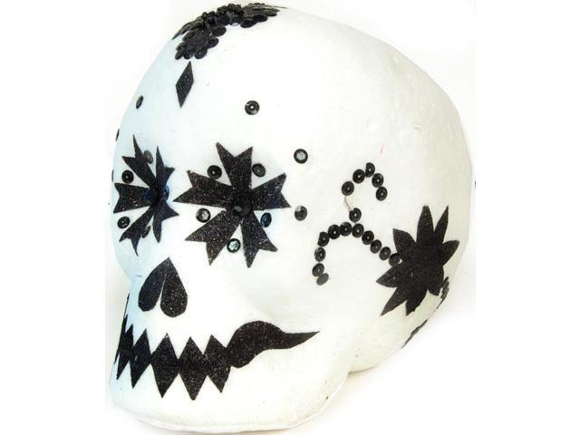 Day Of The Dead Black & White Skull Large Halloween Prop