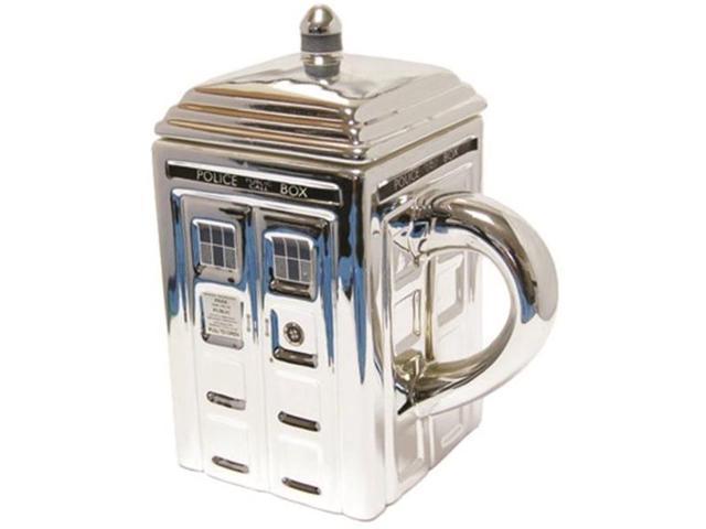 Doctor Who Chrome Tardis Ceramic Mug