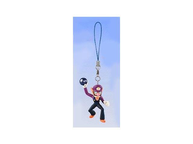 Super Mario Bros Mario Party 4 Clip On/Keychain Figure Waluigi
