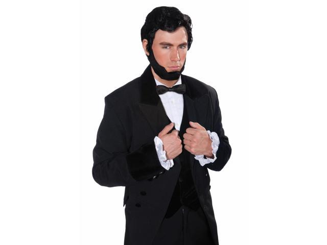 Abraham Lincoln Costume Wig & Beard Set Adult One Size